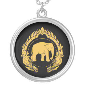 Thai Elephant Silver Plated Necklace
