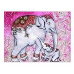 THAI ELEPHANTS POST CARDS