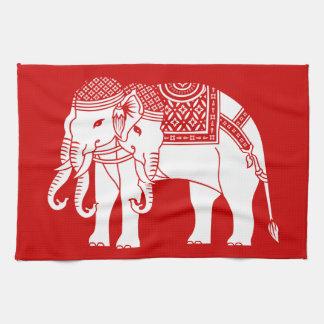 Thai Erawan White Elephant Kitchen Towels