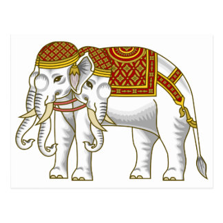Thai Erawan White Elephant Postcard