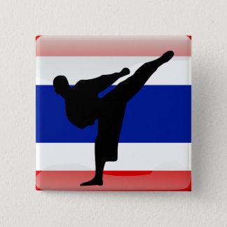 Thai flag 15 cm square badge
