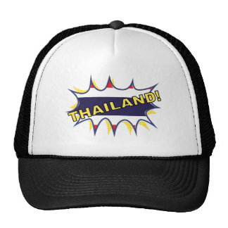 Thai flag KAPOW starburst Mesh Hats