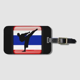 Thai flag luggage tag