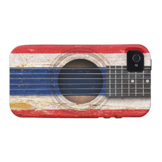 Thai Flag on Old Acoustic Guitar iPhone 4/4S Cover