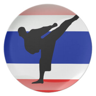 Thai flag plate