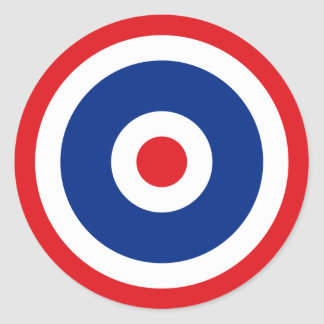 Thai Flag Roundel Target Classic Round Sticker