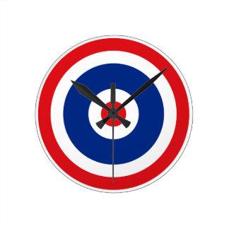 Thai Flag Roundel Target Round Clock