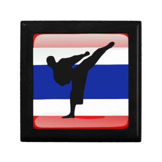 Thai flag small square gift box