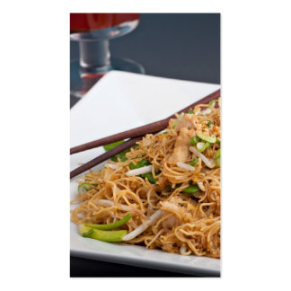 Thai Food Lo Mein Noodles Dish Business Card Templates