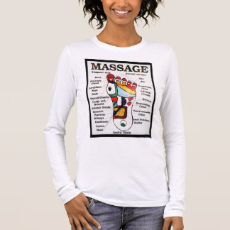 Thai Foot Massage ~ Reflexology map Long Sleeve T-Shirt