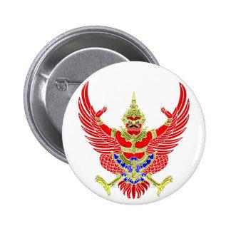 THAI GARUDA - KROOTH - SANSKRIT 6 CM ROUND BADGE