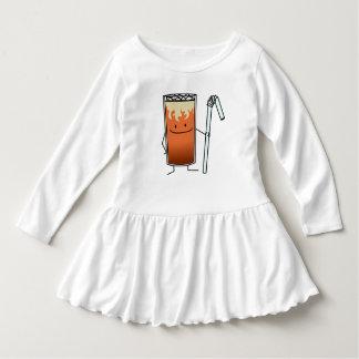 Thai Iced Tea & Bendy Straw - Happy Drink Thailand Dress