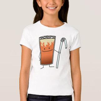 Thai Iced Tea & Bendy Straw - Happy Drink Thailand T-Shirt