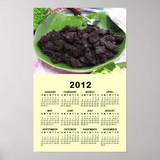 Thai Lao Black Rice [Khao Niao Dam] 2012 Calendar Print