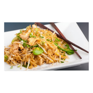 Thai Lo Mein Noodle Stir Fry Business Card Templates
