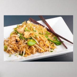 Thai Lo Mein Noodle Stir Fry Print