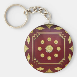 Thai Pavilion Inside Design Key Ring