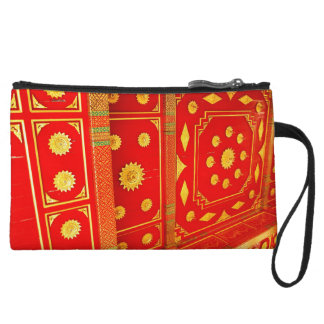 Thai Pavillion Ceiling Wristlet Clutch