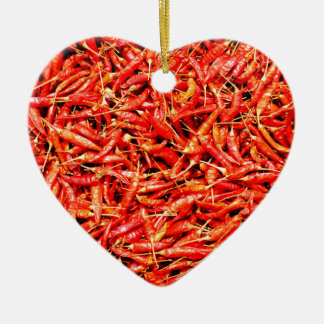 Thai peppers christmas ornament