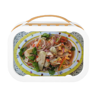Thai Spicy Sausage Salad ... Asian Street Food Lunch Box