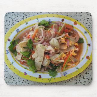 Thai Spicy Sausage Salad ... Asian Street Food Mouse Mat