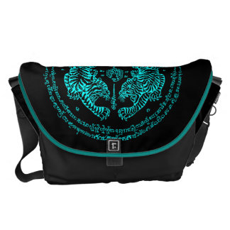 "Thai Tattoo Designs Tiger ""Yant Suea Koo"" Sky Messenger Bag"