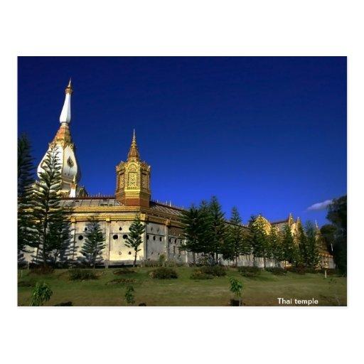 Thai temple post card