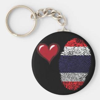 Thai touch fingerprint flag key ring