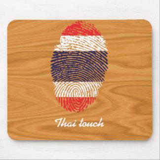 Thai touch fingerprint flag mouse mat