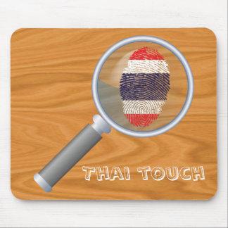 Thai touch fingerprint flag mouse pad