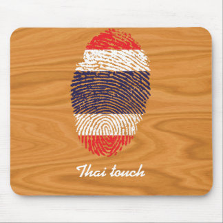 Thai touch fingerprint flag mouse pad
