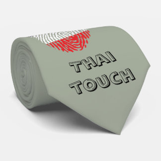 Thai touch fingerprint flag tie