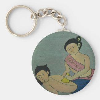 Thai Traditional Yoga Massage Key Ring