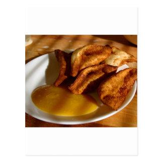 Thai Wontons With Mango Dipping Sauce Postcard