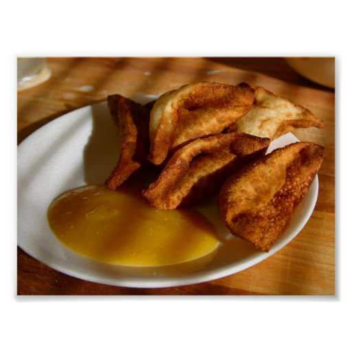 Thai Wontons With Mango Dipping Sauce Posters