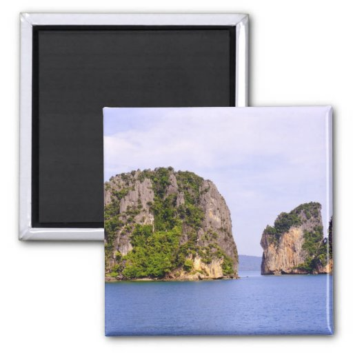 Thailand, Andaman Sea. Ao Phang Nga Islands in 2 Fridge Magnets