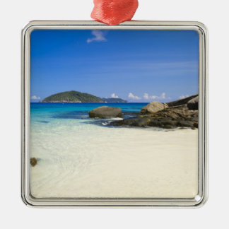 Thailand, Andaman Sea. Ko Miang Island Similan Silver-Colored Square Decoration