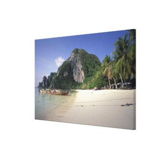 Thailand, Andaman Sea, Ko Phi Phi Island, Beach Canvas Prints
