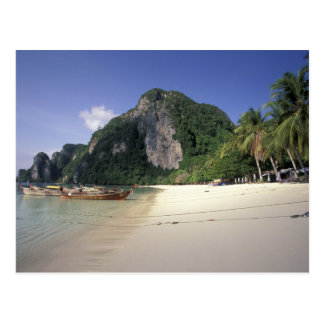 Thailand, Andaman Sea, Ko Phi Phi Island, Beach Postcard