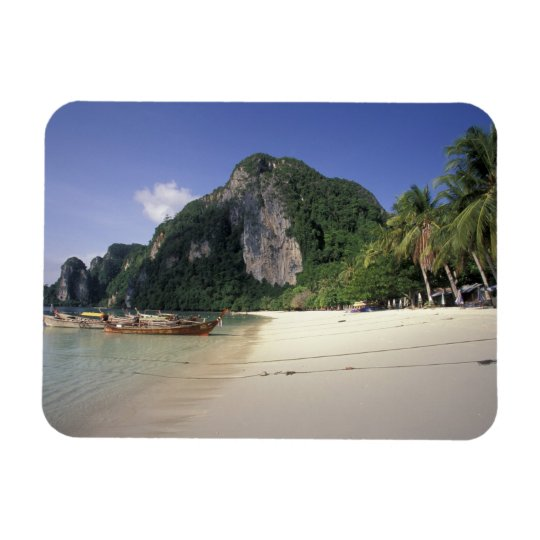 Thailand, Andaman Sea, Ko Phi Phi Island, Beach Rectangular Photo Magnet