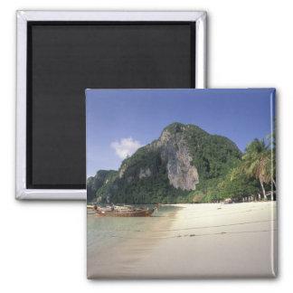 Thailand, Andaman Sea, Ko Phi Phi Island, Beach Square Magnet