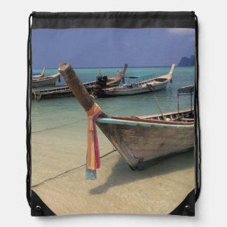 Thailand, Andaman Sea, Ko Phi Phi Island, Drawstring Backpacks