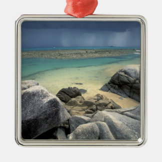 Thailand, Andaman Sea, Ko Phi Phi Island, Scenic Silver-Colored Square Decoration
