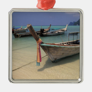Thailand, Andaman Sea, Ko Phi Phi Island, Silver-Colored Square Decoration
