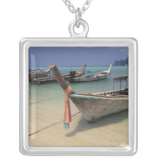 Thailand, Andaman Sea, Ko Phi Phi Island, Silver Plated Necklace