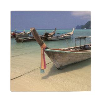 Thailand, Andaman Sea, Ko Phi Phi Island, Wood Coaster
