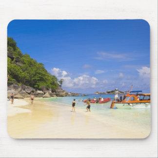 Thailand, Andaman Sea. Passengers onshore at Mouse Pad