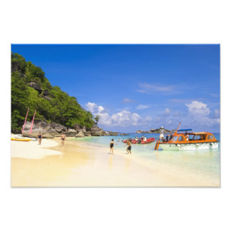 Thailand, Andaman Sea. Passengers onshore at Photo Print