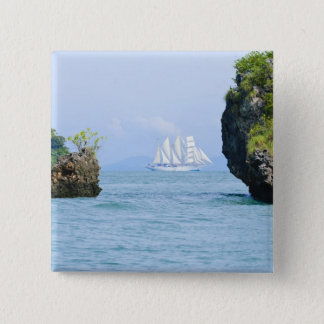 Thailand, Andaman Sea. Star Fyer clipper ship 2 15 Cm Square Badge
