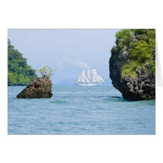 Thailand, Andaman Sea. Star Fyer clipper ship 2 Card